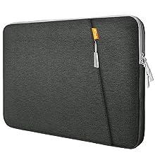 "JETech 13,3 Pollici Sleeve Laptop Notebook Tablet iPad Tab, Custodia Borsa Impermeabile Compatibile MacBook Air/PRO, 13"" MacBook Pro, 12.3 Surface PRO, Surface Laptop, Grigio"
