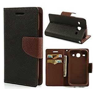Aart Fancy Diary Card Wallet Flip Case Back Cover For Redmi MI4 - (Black brown) by Aart Store
