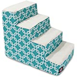 4 Step Portable Pet Stairs By Products Teal Links Steps For Cats And Dogs Blue Turquoise