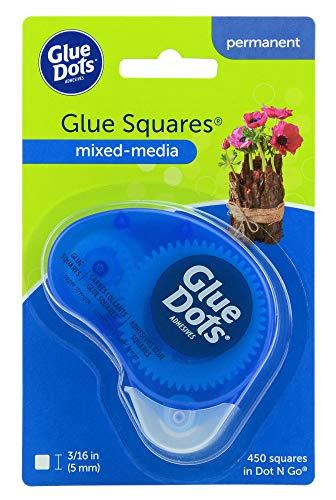 Glue Dots Doppelseitige Klebepunkte, Dot 'n Go Kleberoller, 450 Punkte, Super Stark, Quadratisch, 5 mm, Vielseitige Verwendung, DIY Basteln, Mixed Media und Scrapbooking -