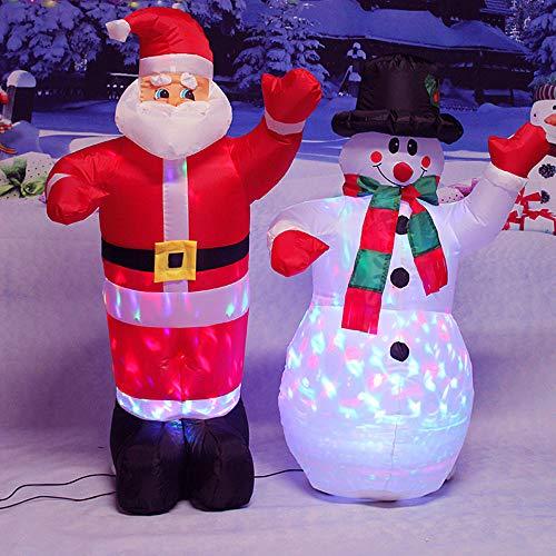 Aufblasbare Weihnachtsmann Anzug - HUWAI Aufblasbarer Weihnachtsmann, 120CM Schneemann, 130CM