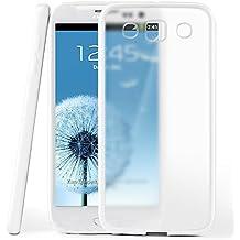 Funda protectora OneFlow para funda Samsung Galaxy S3 / S3 Neo Carcasa silicona TPU 1,5mm | Accesorios cubierta protección móvil | Funda móvil paragolpes bolso traslúcida transparente en Shiny-White