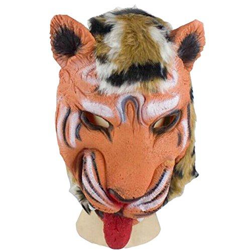 Tiermaske für Halloween Party Cosplay, Maske, Löwe Tiger Wolf und Wolf Kopfhandschuhe in Gesichtsform