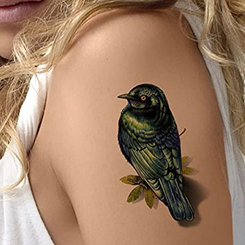 TAFLY El Pájaro Tatuajes Impermeable 3d El Pájaro Tatuajes Temporales Pegatinas Para Las Mujeres 5