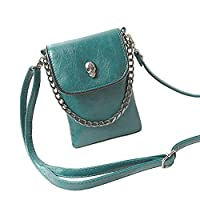 BXT Summer Ladies Skull Messenger Handbags Cellphone Mini Shoulder Bags - Green