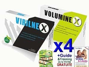 4x Virilnex + 4x Voluminex - Combination de deux Renforceurs Sexuels pour Augmenter toute la Puissance Masculine - Érections dures - plus de Sperme - augmentation du Pénis - plus de Plaisir (Traitement Complète de 4 Mois)