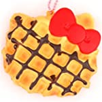 cute Hello Kitty waffle red bow squis...