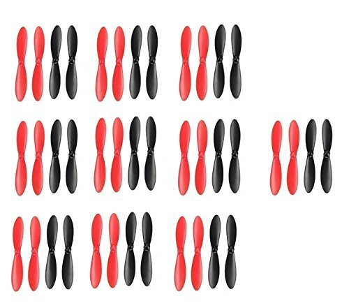 10 x Quantity of Walkera QR W100 5.8Ghz FPV Propeller Blades Props Rotor Set Main Blades Black and Red - Fast Free Shipping from Orlando, Florida USA!