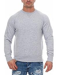 Happy Clothing Herren Pullover Sweatshirt Langarm Pulli ohne Kapuze S M L XL 2XL 3XL