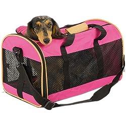 Transportín Perros 2 puertas 46 x 28 x 28 cm Bolsa deportiva transporte Mascotas asas bolso o bandolera Mifauna Sport Rosa…