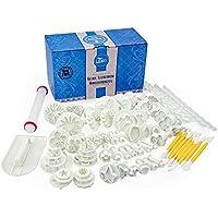 68PCS Fondant Ausstechformen Set, Kuchen Ausstecher Dekoration Set Backen DIY Stempel Zubehörmit Modellierwerkzeug, Glätter, Rollstab