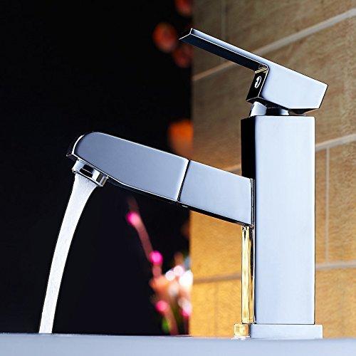 Le cuivre seul trou Robinet eau chaude et froide le multi-fonction télescopique robinets salle de traction au-dessus du bassin bassin robinet robinet compteur