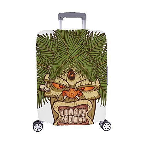 Das Symbol des primitiven Stammes Totemmuster Spandex-Trolley Reisegepäck-Schutzkoffer-Abdeckung 28,5 X 20,5 Zoll