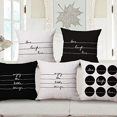 JinRou Moda casual semplice e moderna in Europa e nel Regno Unito il vento personalità letterarie Cuscino cotone Ufficio auto cuscino napping il divano 18*18 pollici , m-97162 , 45*45cm