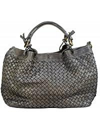 b39d9c1f5b9e5 BZNA Bag Rene grey Italy Designer Damen Handtasche Schultertasche Tasche  Schafsleder Shopper Neu