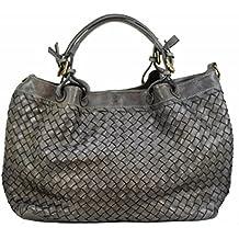 0eb84d71ca9da BZNA Bag Rene taubengrau Italy Designer Damen Handtasche Schultertasche  Tasche Schafsleder Shopper Neu
