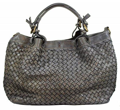 BZNA Bag Rene taubengrau Italy Designer Damen Handtasche Schultertasche Tasche Schafsleder Shopper Neu