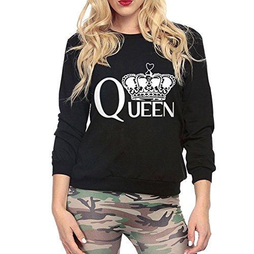Yalatan Letter Printed Sweatshirt Hoodies Women Tracksuits Long Hoodie Tees Black