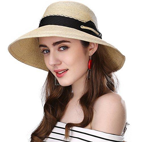 SIGGI Damen Sommerhut mit Sonnenblende faltbar UPF50