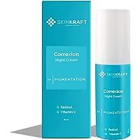 SkinKraft Correxion Night Cream - Customized Brightening Night Cream - Retinol Night Cream For All Skin Types - Night…