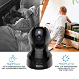 Dome Kamera - Atuten WiFi IP Kamera 1080P WLAN Überwachungskamera,Smart Home Kamera mit Nachtsicht,Auto-Rotation,2 Wege Audio,Bewegungsalarm,64G TF Card, Baby Monitor, Kompatible mit Alexa Echo Show - 6