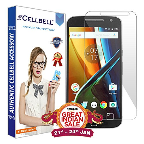 Cellbell Tempered Glass Screen Protector With Installation Kit For Moto...