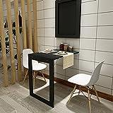 Wand Hängen Klapp Esstisch Schreibtisch Schreibtisch Computer Schreibtisch 74cm * 45cm Europäischen Stil Minimalistischen Büro Beistelltisch Weiß Schwarz (Farbe : Schwarz)