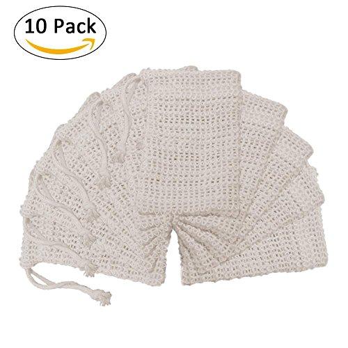 Traditionelle Wand-tasche (Seifenhalter Reise, 10 stücke Seifentasche Sisal Natürliche Peeling mit Kordelzug Für Baden Waschen Hände)