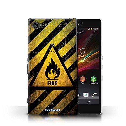 Coque de Stuff4 / Coque pour Sony Xperia Z1 Compact / électricité Design / Signes de Danger Collection Feu/Inflammable