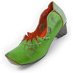 Leder Schuhe von TMA, Giftgrün Size 39