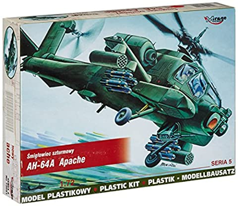 Mirage Hobby 72051 1:72 scale, AH-64 Apache - attack helicopter , plastic model kit