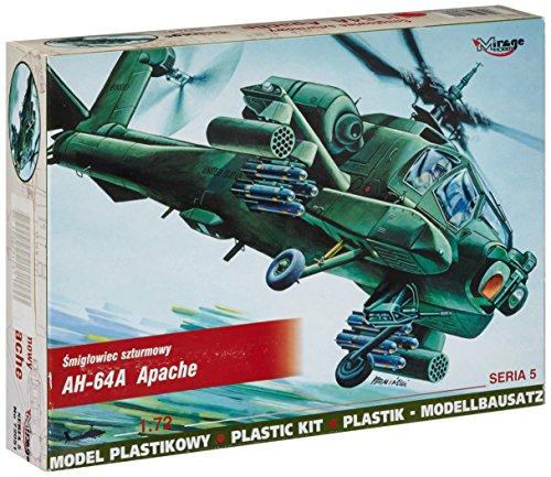 Modellino elicottero mcdonnell douglas ah-64 apache a (1:72)