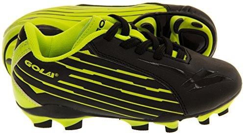 Gola Activo 5 Chaussures de Football Astroturf Garçons Noir / Jaune