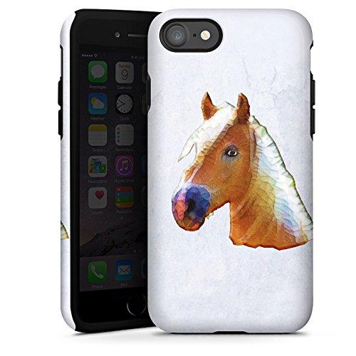 Apple iPhone X Silikon Hülle Case Schutzhülle Pferd Stute Hengst Tough Case glänzend