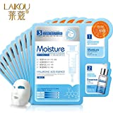 Generic 1 piece : HOT LAIKOU 3 IN 1 Deep Cleansing + Essence Extra Moisture + Hydrating Essential Mask 27gx3Pcs Newly tecnology Chinese silk mask