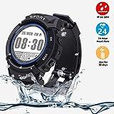 VIFLYKOO Smartwatch Fitness Uhr, Fitness Tracker Wasserdicht IP68 164ft mit Kompass,Schrittzähler und 24h Pulsmesser,6 Multi-Sport-Modus,30 Tage Arbeitszeit[kein Bluetooth] für Kinder Damen Männer