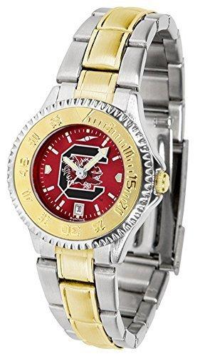 Carolina del Sur del Sur Mesdames reloj (acero inoxidable y tono oro par Suntime