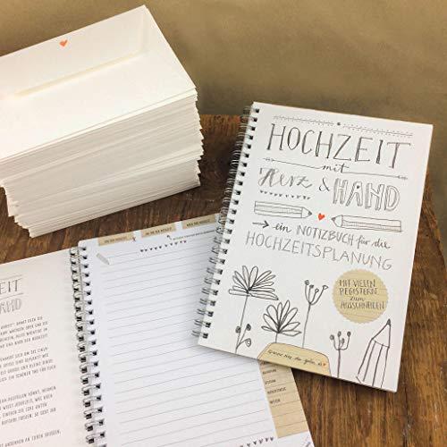 Hochzeitsnotizbuch im schönen Kalligrafie Design - 2