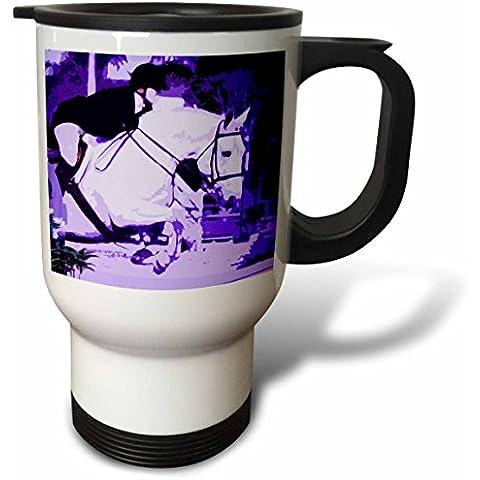 3drose tm_156128_1 cavallo arabo viola che Posturized Tazza da viaggio, 14G