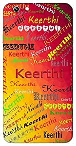 Keerthi (Eternal Flame) Name & Sign Printed All over customize & Personalized!! Protective back cover for your Smart Phone : Samsung Galaxy S6 Edge