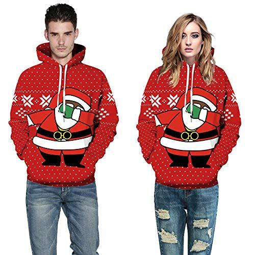 Qinsling felpa con cappuccio uomo inverno maglione elegante natale maniche lunghe distintivo hoodie allegro sweatshirt camicetta dolcevita classico tops