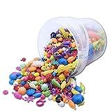Cathy02Marshall Kinder Schmuck Spielzeug Stringing Perlen Spiel Beads Spielzeug DIY Perlenschmuck für Kinder Zum Basteln von Schmuck Ketten Armbändern Typ 520 Beads