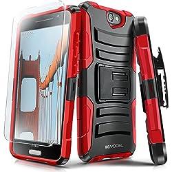 Evocel® Coque HTC One A9[génération Série] robuste avec béquille et clip de ceinture pivotant + protection d'écran HD pour HTC One A9/Aero