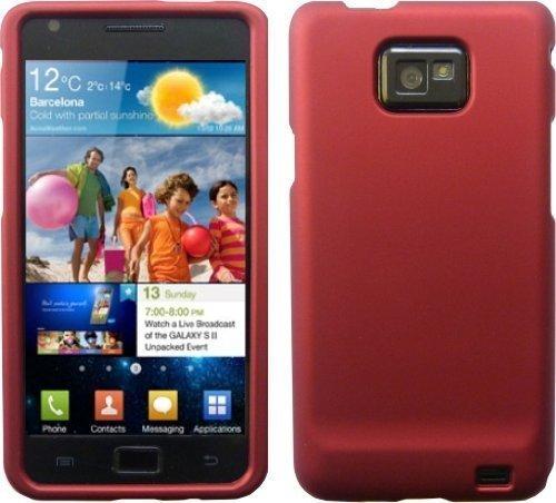 tes Finish Hybrid Schutzhülle für Samsung Galaxy S2 i9100 inklusive Displayschutz - Rot ()