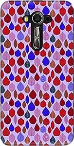 The Racoon Grip printed designer hard back mobile phone case cover for Asus Zenfone 2 Laser ZE550KL. (Red Leaf T)