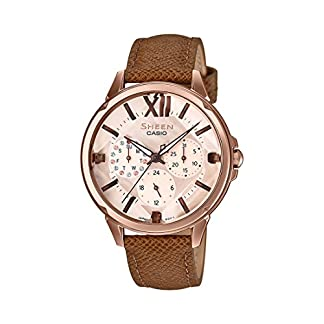Casio Sheen Analog Rose Gold Dial Women's Watch – SHE-3056PGL-7AUDF (SX217)
