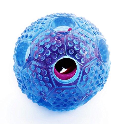 Hundeball, Hepooya Hundespielzeug Ball aus Naturgummi, Langlebiger Hundespielball für große & kleine Hunde, ø7cm mit Dental-Zahnpflege-Funktion mit Loch für Leckerli, Langanhaltender Spielspaß