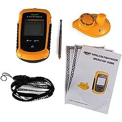 XCSOURCE Portátil Inalámbrico Localizador de peces LCD al aire libre Pescar Sensor de Sonar 40m Transductor de alarma OS845