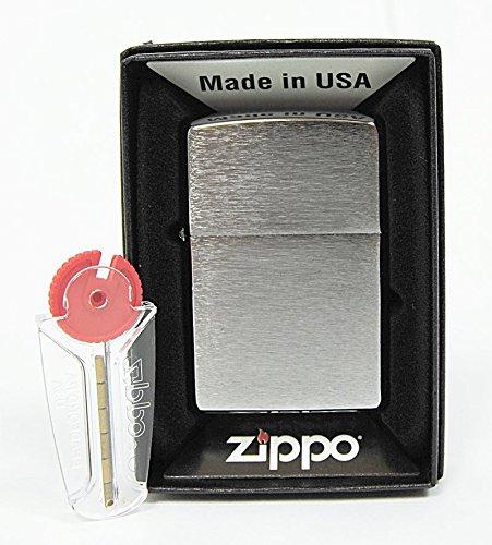 zippo-mechero-cromado-con-efecto-cepillado-incluye-6-piedras-de-repuesto
