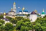 Alu-Dibond-Bild 120 x 80 cm: 'The great Trinity monastery in Sergiyev Posad near Moscow', Bild auf Alu-Dibond